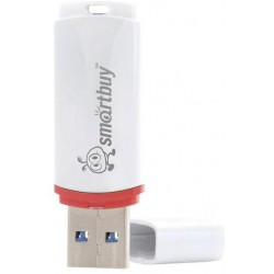 Флеш-диск USB 8GB SMARTBUY crown white SB8GBCRW-W