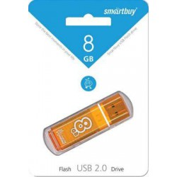 Флеш-диск USB 8GB SMARTBUY glossy orange SB8GBGS-Or