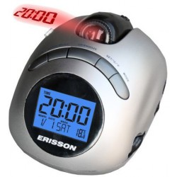 Радиочасы ERISSON RC-1215P silver