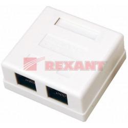 Розетка компьютерная REXANT 2гн 8p8c RJ45
