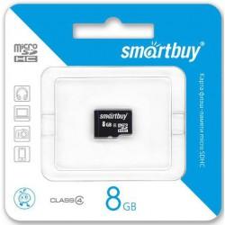 Флеш карта MicroSDHC 8GB SMARTBUY Class4 без адаптера