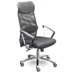 Кресло MC-040 Директор Люкс В хром Ср Z11/TW-01/E11 черная экокожа