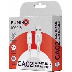 Кабель FUMIKO CA02 MicroUSB белый 1м 3A