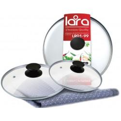 Крышка LARA LR01-97 стеклянная 24 см
