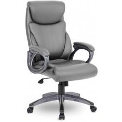 Кресло Веста M-703 PL S-0422 серая экокожа