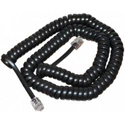Шнур для телефонной трубки 7,5 м черный