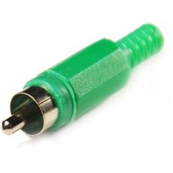 Штеккер RCA зеленый