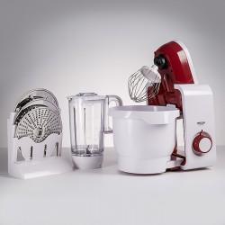 Кухонный комбайн DELTA LUX DL-7500PV белый с бордовым