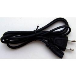 Шнур питания C7 REXANT 11-1101 магнитофонный 1.8 м PE черный 2x0.5