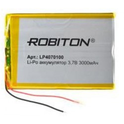 Аккумулятор ROBITON LP4070100 3.7В 3000мАч PK1 14912