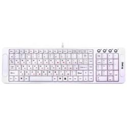 Клавиатура DIALOG KK-03U USB slim белая