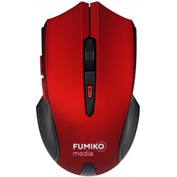 Мышь FUMIKO WM02 красно-черная