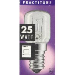 Лампа накаливания PHILIPS T25 E14 25W трубчатая для печей (300°С)