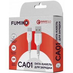 Кабель FUMIKO CA01 Type-C белый 1м 2A