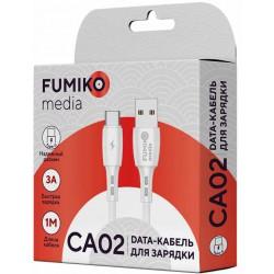 Кабель FUMIKO CA02 Type-C белый 1м 3A